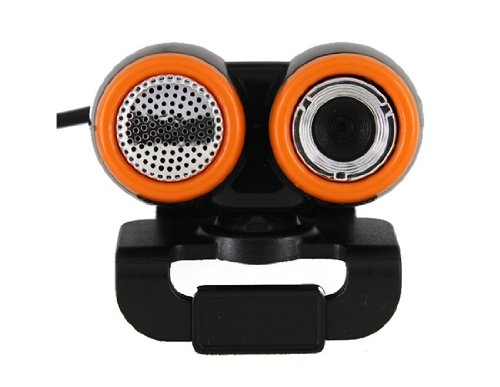 0.48Mpx USB Webcam PC Camera with Microphone and Plastic Clip (Black)
