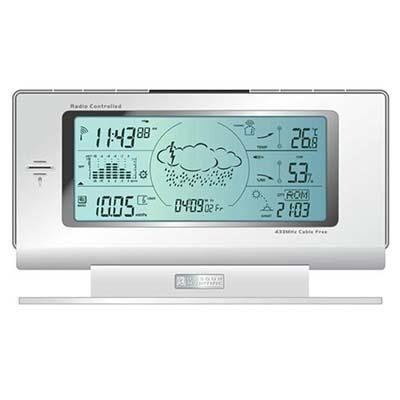 Oregon Scientific Voice-Activated Weather Forecaster with Clock – BAR998HGA