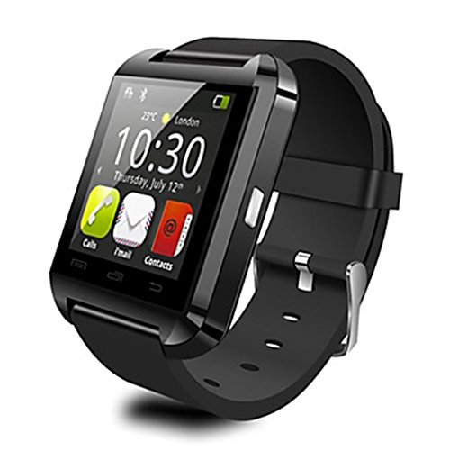 Soleasy Luxsure Upgraded Version Bluetooth Smart Watch WristWatch U8+UWatch Fit for Smartphones IOS Android Apple iphone 4/4S/5/5C/5S Android Samsung S2/S3/S4/Note 2/Note 3 HTC Sony Blackberry (Black-U8+)WTH9002