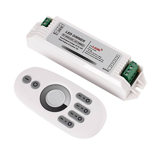 4 zone 2.4G RF LED Single Color Strip Touch Dimmer RF Wireless Touch Control Remote Controller Common Anode LED Modules For 3528 5050 Warm White Cool White Single Color LED Strips