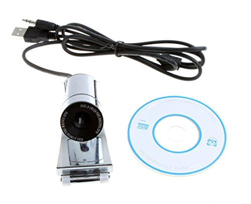 niceeshop(TM) USB 2.0 5.0M 3 LED PC Camera HD Webcam Camera Web Cam with Microphone and CD for Computer PC Laptop,Silver