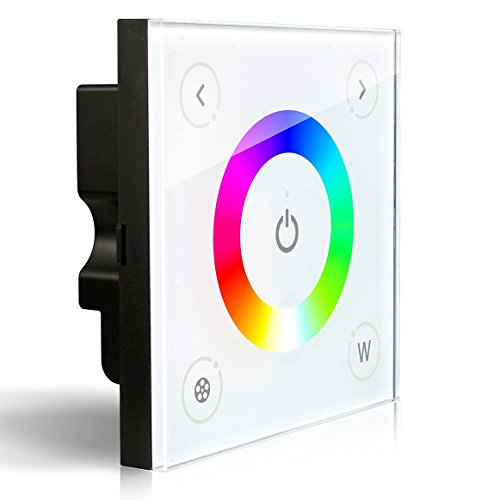 LEDENET® D4 Wall-mounted Touch Panel Full Color RGBW Dimmer Controller LED Strip Lighting 12-24V 16A 192W 384W (5 Year Warranty)