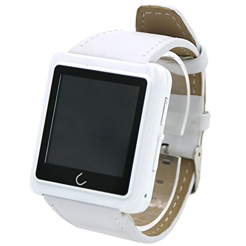 ANDROSET Premium Bluetooth Smart Watch for Smartphones – Retail Packaging – White Leather Reviews