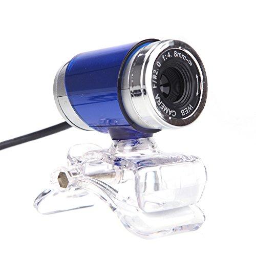 Andoer USB 2.0 12 Megapixel HD Camera Web Cam with MIC Clip-on 360 Degree for Desktop Skype Computer PC Laptop Blue