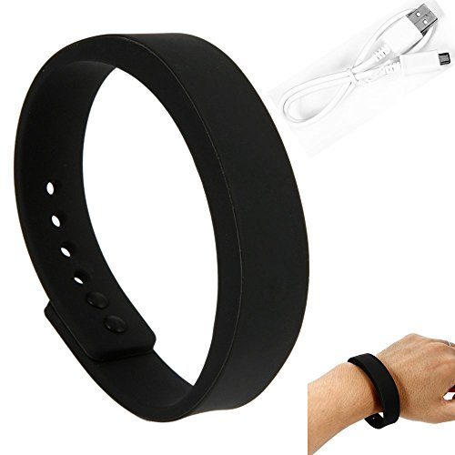 Bwatch Bluetooth 4.0 Smart Wristband Watch Fitness Activity Tracker Bracelet Waterproof-Black