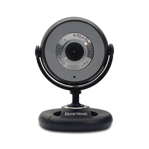 Gear Head USB 2.0 1.3 MP WEBCAM PRO with Snapshot and Microphone (WC740i-CP10)