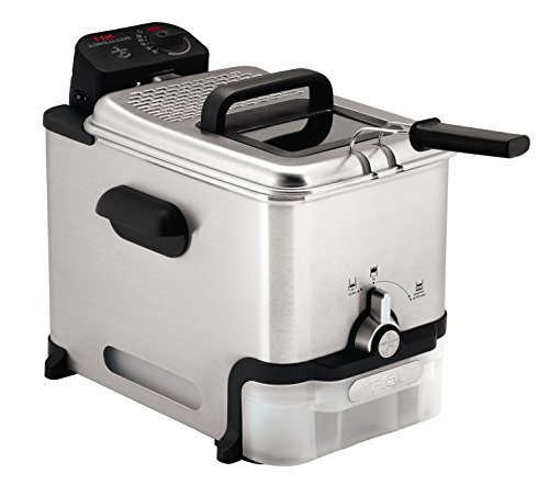 T-fal FR800050 Ultimate EZ Clean 2.6-Pound / 3.5-Liter Stainless Steel Immersion Deep Fryer, Silver