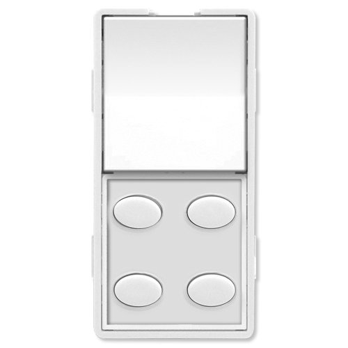 Simply Automated ZS25O-W Custom Series Single-Rocker with Oval 4-Button Faceplate, White