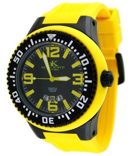 Adee Kaye #AK2230-MIPB Men's Oversized Rubber Strap 100M Sports Watch