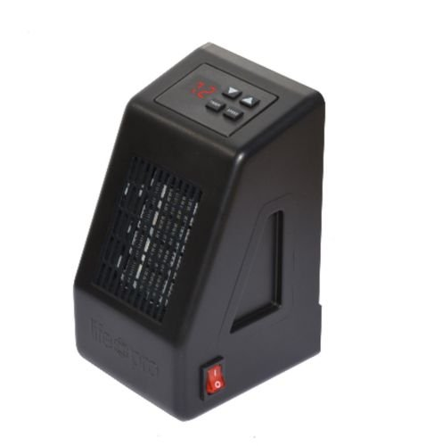 LifePro LS-LZHT1023US Black LifeSmart 400-Watt Micro-Sized Plug-In Heater w Cool Touch Cabinet