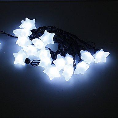 LWW-5M 15W 20-LED White Light Star Shaped LED Strip Light (220V)