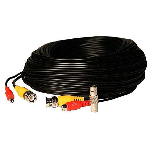 100 ft.BNC Video 2.1mm DC Power Extension Cable – Black Reviews