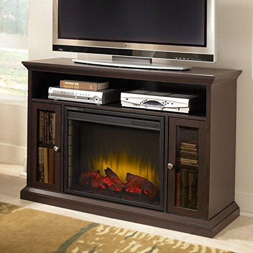 Pleasant Hearth 23-Inch Riley Espresso Media Electric Fireplace
