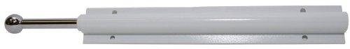 Easy Track RA1204 Sliding Valet Wardrobe Rod, White