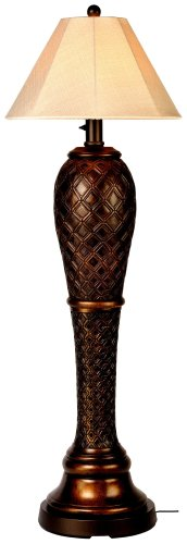 Monterey 947 Bronze 60-inch Floor Lamp Antique Linen Shade