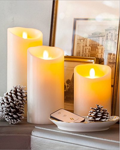3pcs Luminara Vanilla Scented Flameless Pillar LED Candles