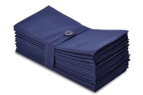 Cotton Craft Napkins – 12 Pack Dinner Napkins – Navy – 100% Cotton – Set contains 1 Dozen Navy Napkins – Tailored with mitered corners and a generous hem – Napkins measure 20 inches by 20 inches – Our Napkins are 38% larger than standard size napkins – Easy care machine wash