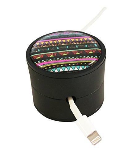 Cord Buddy Creative Charger Cord Holder, Tribal Black