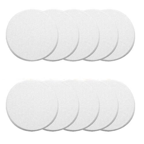 Door Knob Self Adhesive Protector 3″ Drywall Wall Shield Round White (Pack of 10)