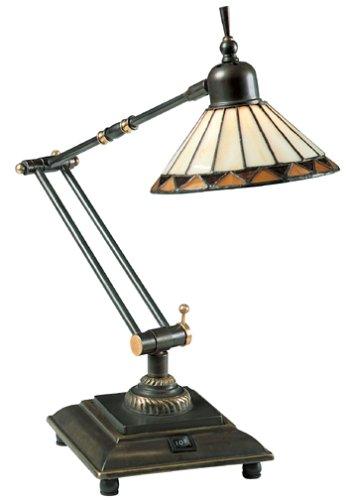 Quoizel Pueblo Tiffany 1 Light Task Lamp