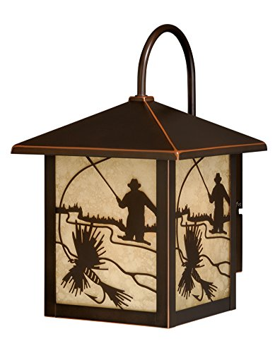 Vaxcel Lighting T0111 Mayfly 1 Light Outdoor Wall Sconce with Photocell, Burnished Bronze