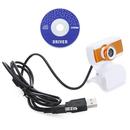 Docooler USB 2.0 50.0M HD Webcam Camera Web Cam with MIC for Computer Desktop PC Laptop (Orange)