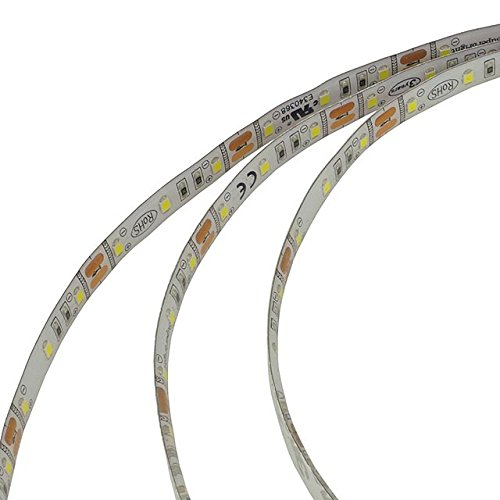 LEDwholesalers IP65 High Output UL 16.4 Ft. LED Flexible Lighting Strip with 300 SMD2835 3M Tape 12 Volt 48W,Warm White Reviews