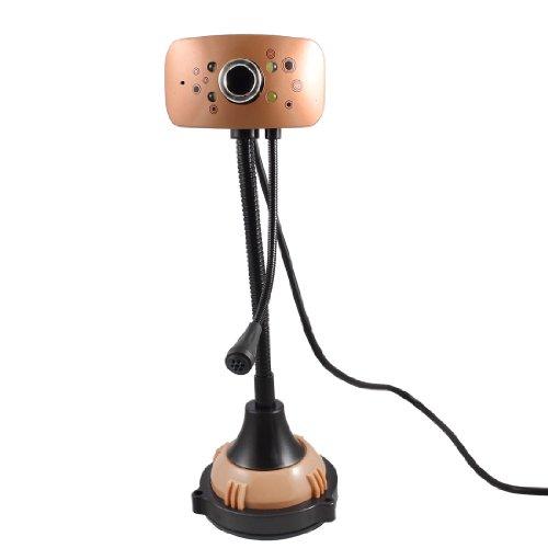USB 4 LED 5000K Pixel Webcam Web Cam Camera PC Laptop w MIC Microphone