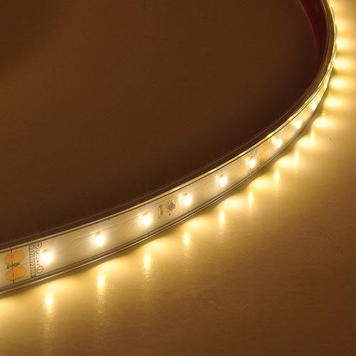 LEDwholesalers IP67 PVC Waterproof 20 Meter Flexible Light Strip with 1200x 3014 SMD LED 104 Watt 24 Volt DC, Warm White 3100K, 20257WW