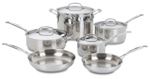 Cuisinart 77-10 Chef's Classic Stainless 10-Piece Cookware Set Reviews