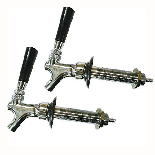 HomeBrewStuff Chrome Draft Beer Faucet and 4 1/2″ Shank Combo – Set of 2