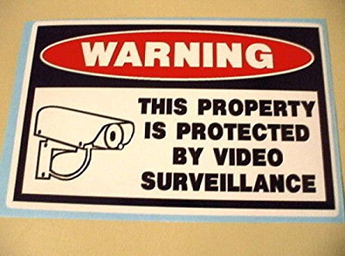 1Pcs Warning Video Camera Surveillance Security Stickers Window Reviews
