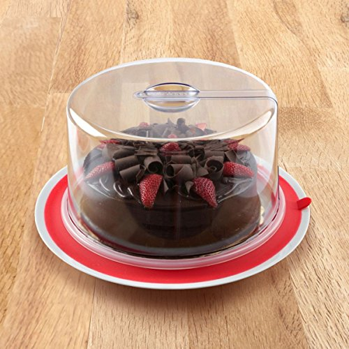 PlateTopper Universal Cake Topper Microwave Cover Leftover Lid Clear Airtight