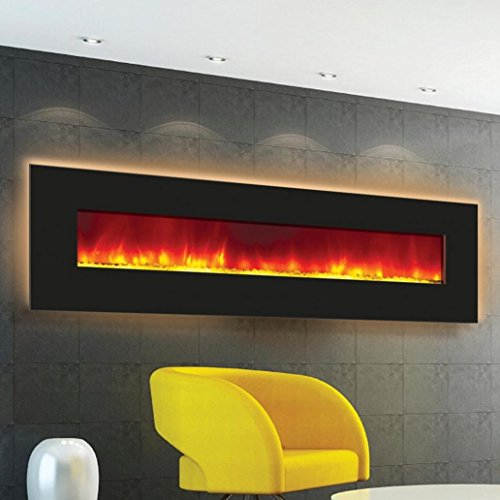 Amantii Enhanced Series Wall Mount/Built-in Electric Fireplace, 72-Inch