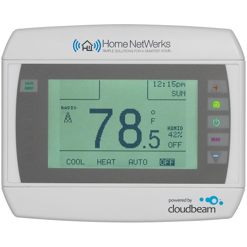 Home NetWerks CT80.B2.1.09.CB.HN Programmable WiFi Enabled Thermostat with Touch Screen