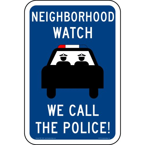 ComplianceSigns Reflective Aluminum Neighborhood Watch sign 18 x 12 in. Surface / Post Mount – Blue