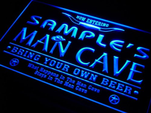 Man Cave Sign With Lights : Adv pro pb g rick s man cave cowboys bar neon light