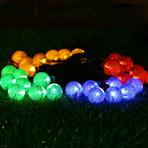 Apexpower Solar Outdoor String Lights 30 Crystal Ball