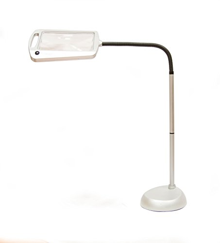 Balanced Spectrum Lighted Magnifier Floor Lamp Full Page Magnification Ultra Bright Leds
