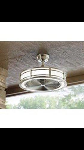 Brette 23 In Led Indoor Outdoor Brushed Nickel Ceiling