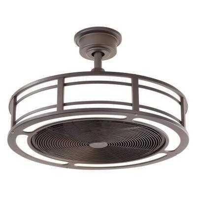 Brette 23 In Led Indoor Outdoor Espresso Bronze Ceiling