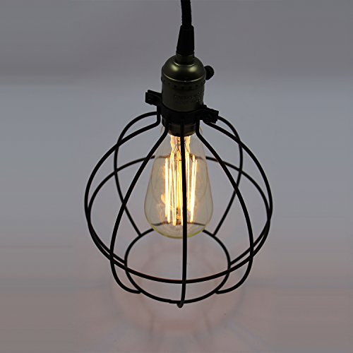Industrial Mini Pendant Light: CLAXY® Ecopower Light Vintage Style Industrial Hanging