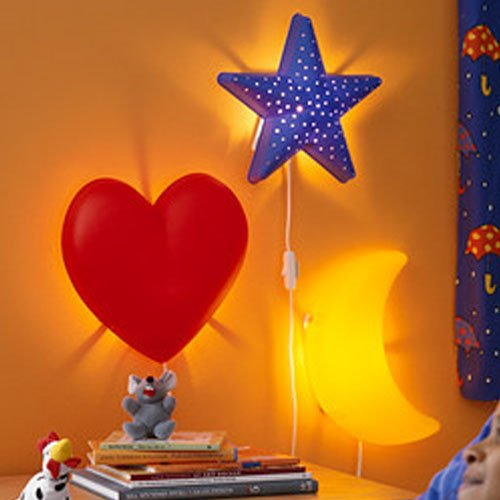Children S Yellow Moon Wall Lamp Bulb Is Included Bulbs