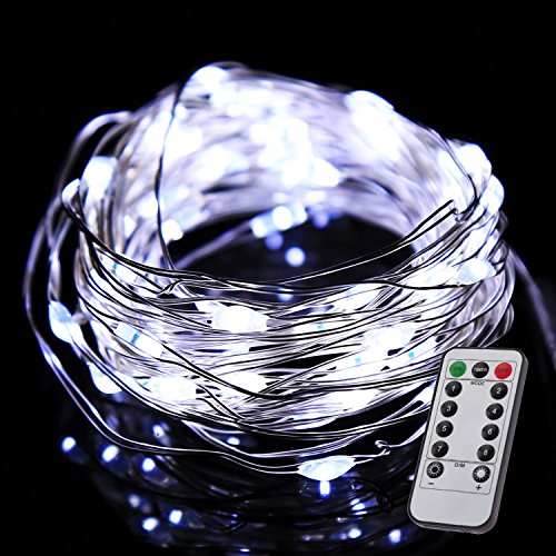 Color Our Life Battery Operated Led String Lights 66 Led S On A Flexible Silver Wire 16 4 Ft 8