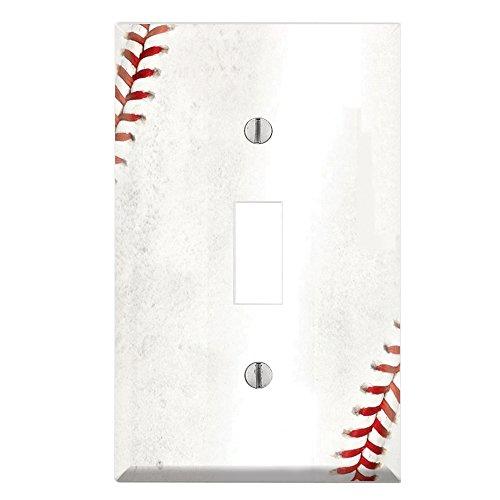 decorative single toggle light switch wall plate cover  u2013 baseball  u2013 bulbs  u0026 fittings ideas