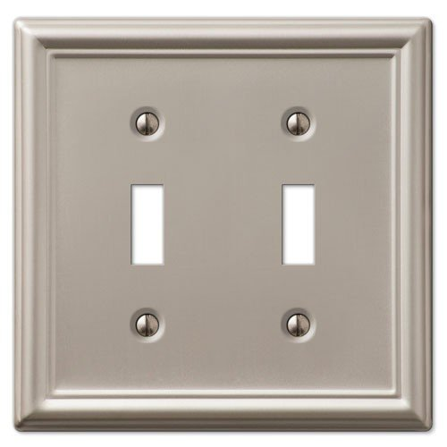 Decorative Wall Outlet Plates : Decorative wall switch outlet cover plates brushed nickel
