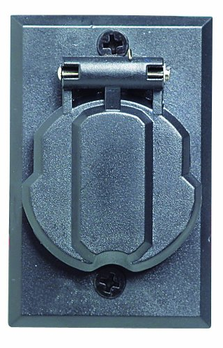 Design House 502112 Replacement Electrical Outlet Black