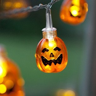 Domire Battery Operated Led Fairy String Lights Pumpkin