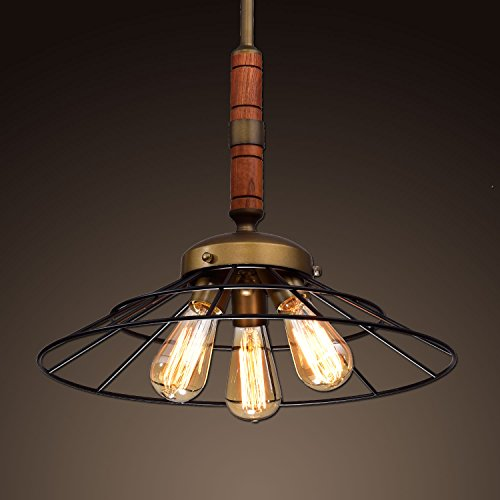 Ecopower Vintage Metal & Wood Chandelier Kitchen Pendant