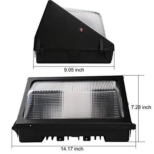 Outdoor Wall Light Replacement Glass: Enegitech 60W LED Wall Pack Light 6055 Lumens 5000K
